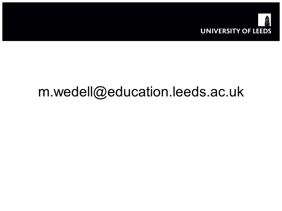 m.wedell@education.leeds.ac.uk 26