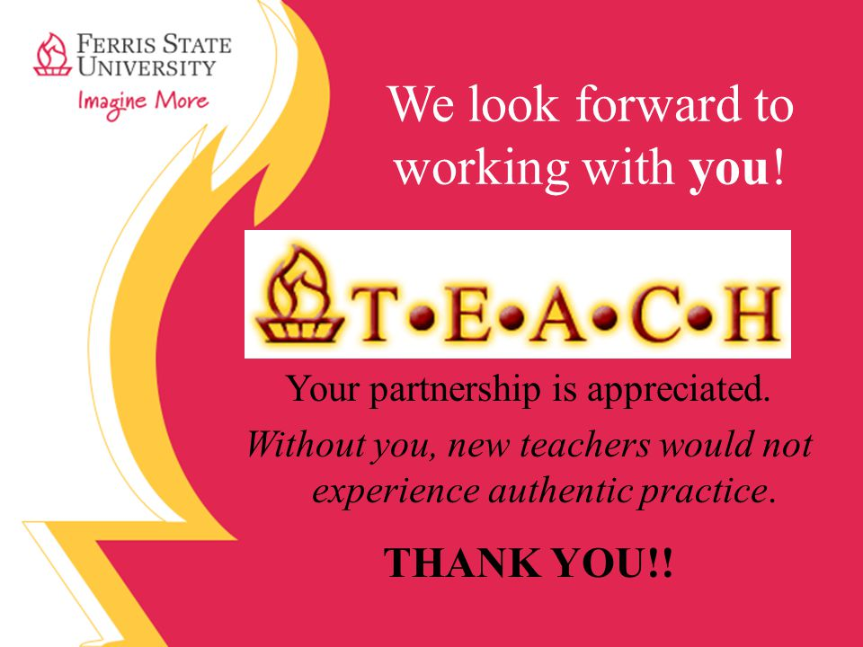 We look forward to working with you.Your partnership is appreciated.