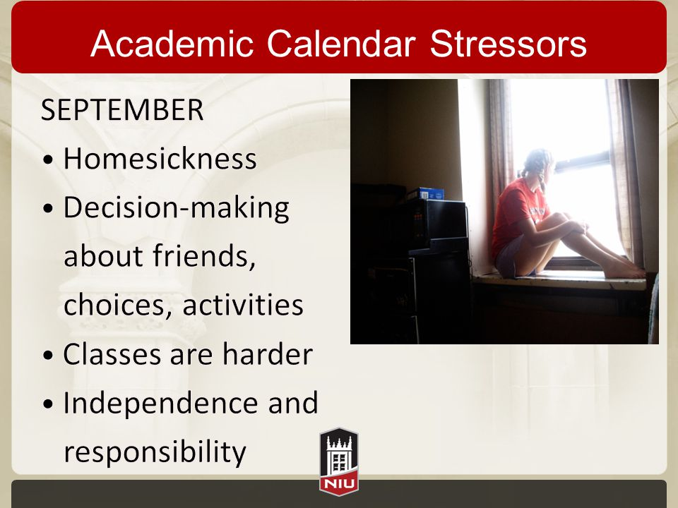 Academic Calendar Stressors