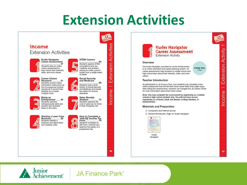 Extension Activities