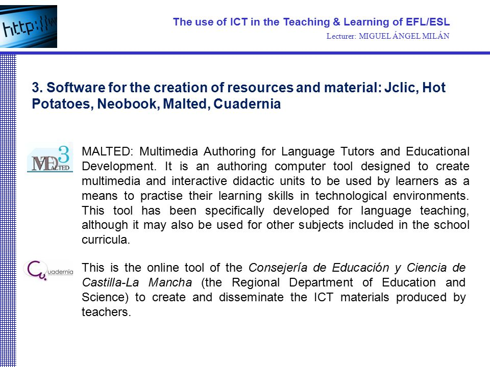 This is the online tool of the Consejería de Educación y Ciencia de Castilla-La Mancha (the Regional Department of Education and Science) to create an