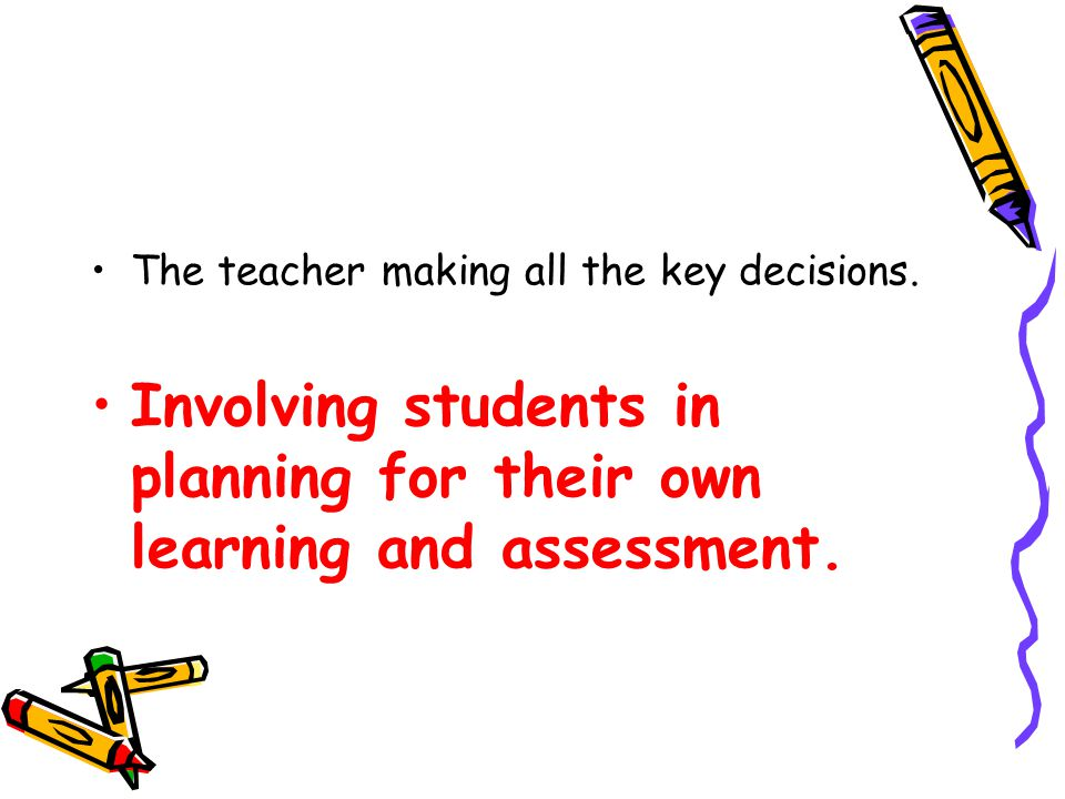 Planning which ignores students' prior knowledge and experience.