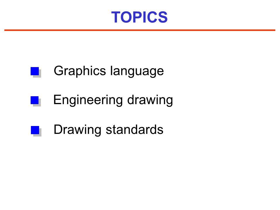 TOPICS Drawing standards Graphics language Engineering drawing