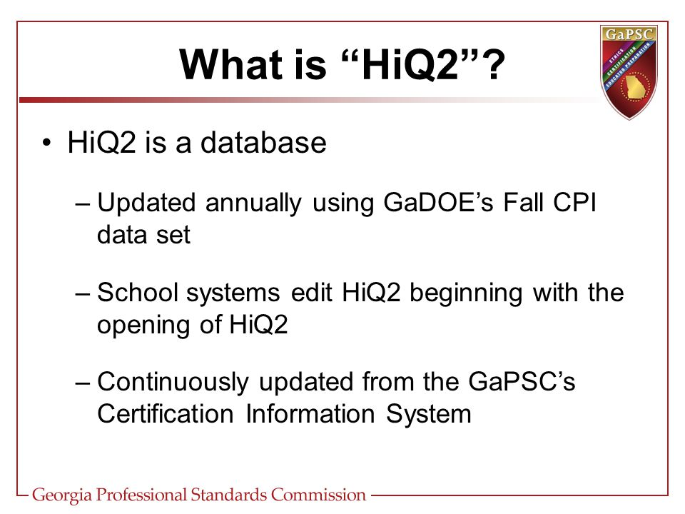 What is HiQ2 .