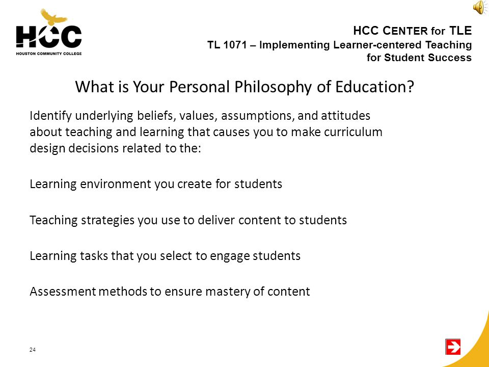 What is Your Personal Philosophy of Education.