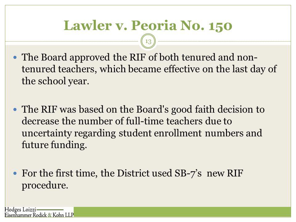 Lawler v. Peoria No.