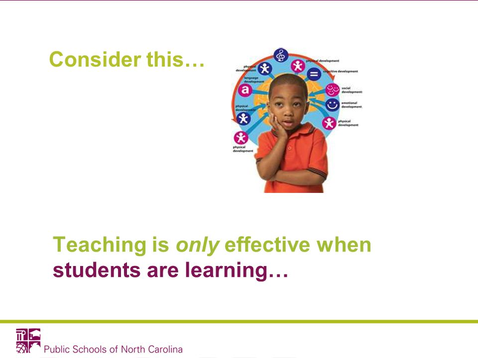 Teaching is only effective when students are learning… Consider this…