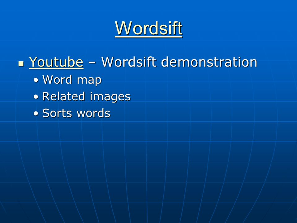 Wordsift Youtube – Wordsift demonstration Youtube – Wordsift demonstration Youtube Word mapWord map Related imagesRelated images Sorts wordsSorts words