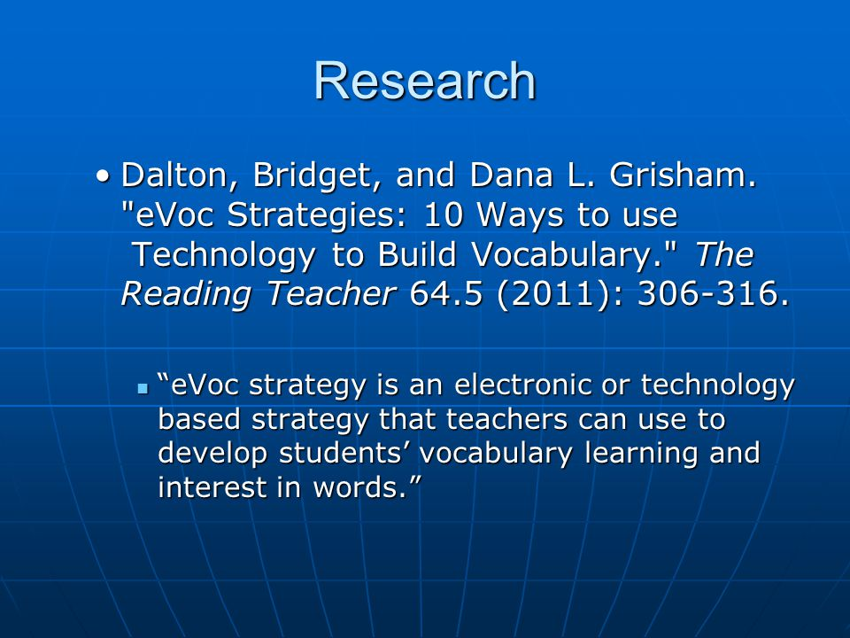 Research Dalton, Bridget, and Dana L. Grisham.