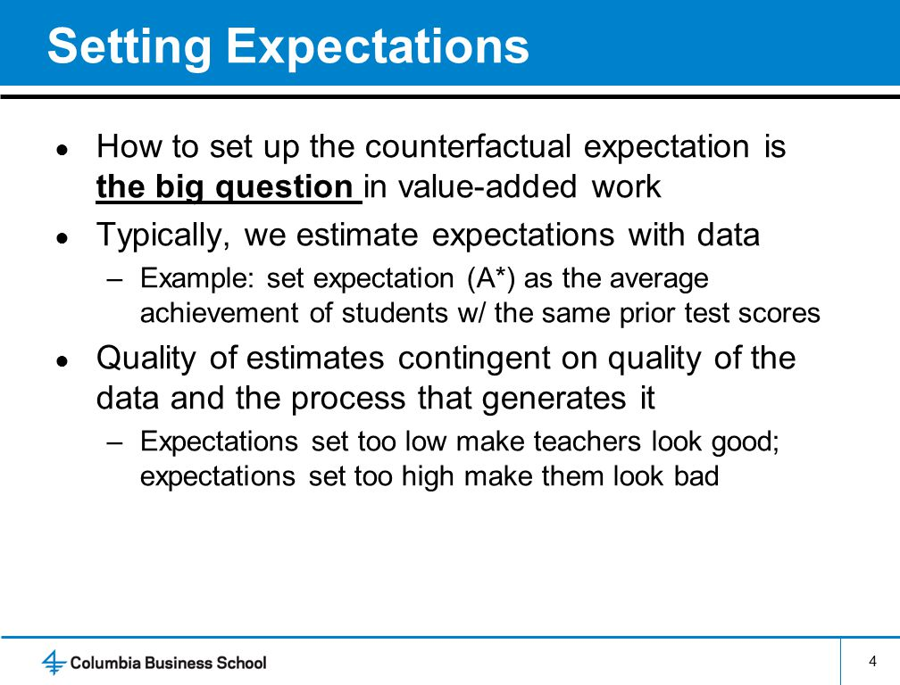 5 Potential Statistical Problems ● #1: Systematic sorting of students –Concern here is bias –Unfair treatment of teachers that is systematic Example: P's friends get easier kids ● #2: Instability of VA estimates –Concern here is imprecision –If estimates are very noisy, using them for rewards/consequences means lots of mistakes –Also means it may be a poor motivational tool