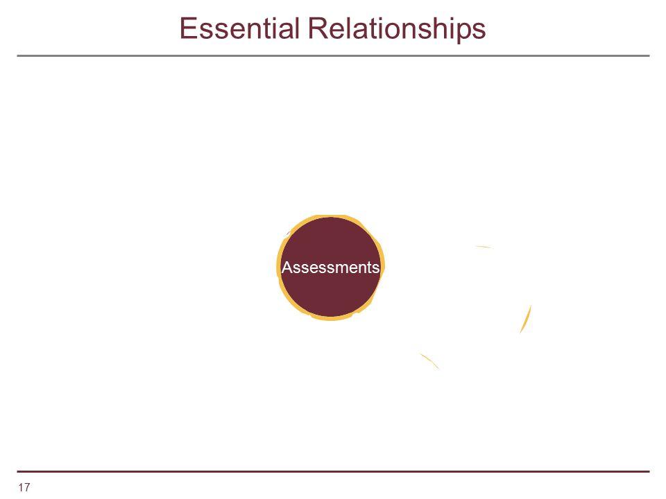 17 Assessments StudentsTeachers School Community NCLBSLMPSLMSTime Essential Relationships
