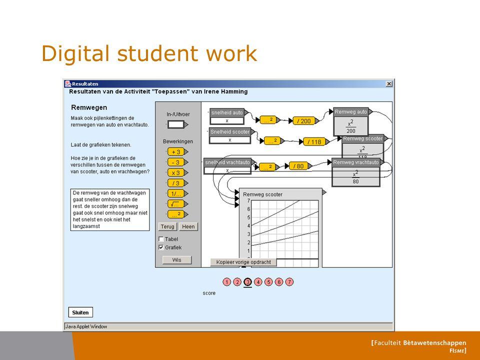 Digital student work
