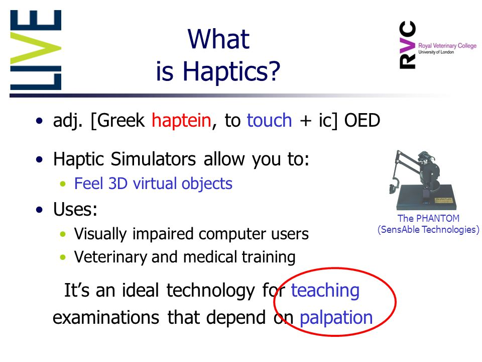 What is Haptics. adj.