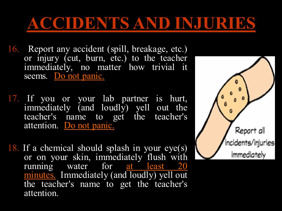 ACCIDENTS AND INJURIES 16.
