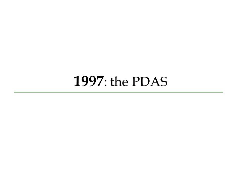 1997 : the PDAS