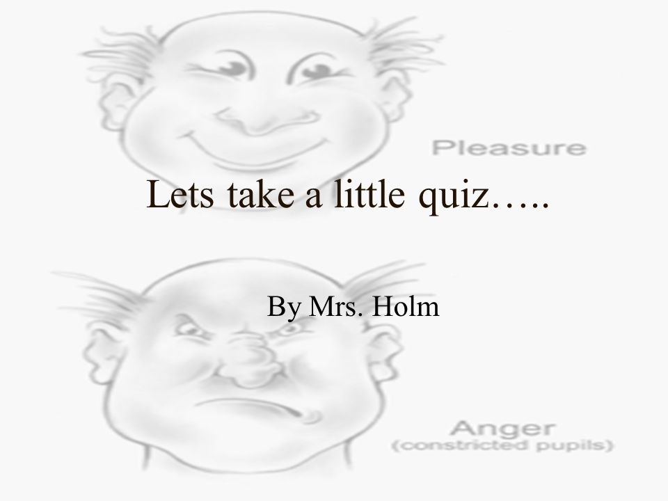 Lets take a little quiz….. By Mrs. Holm