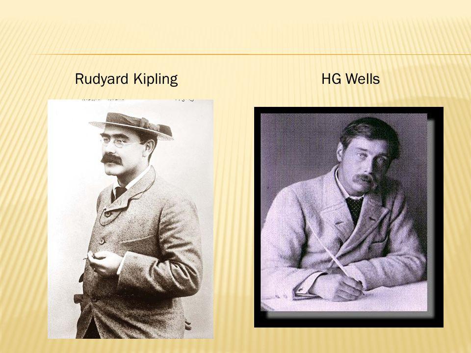 Rudyard KiplingHG Wells