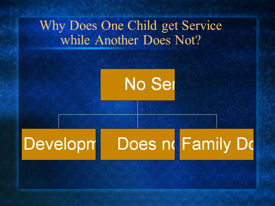 Why Does One Child get Service while Another Does Not