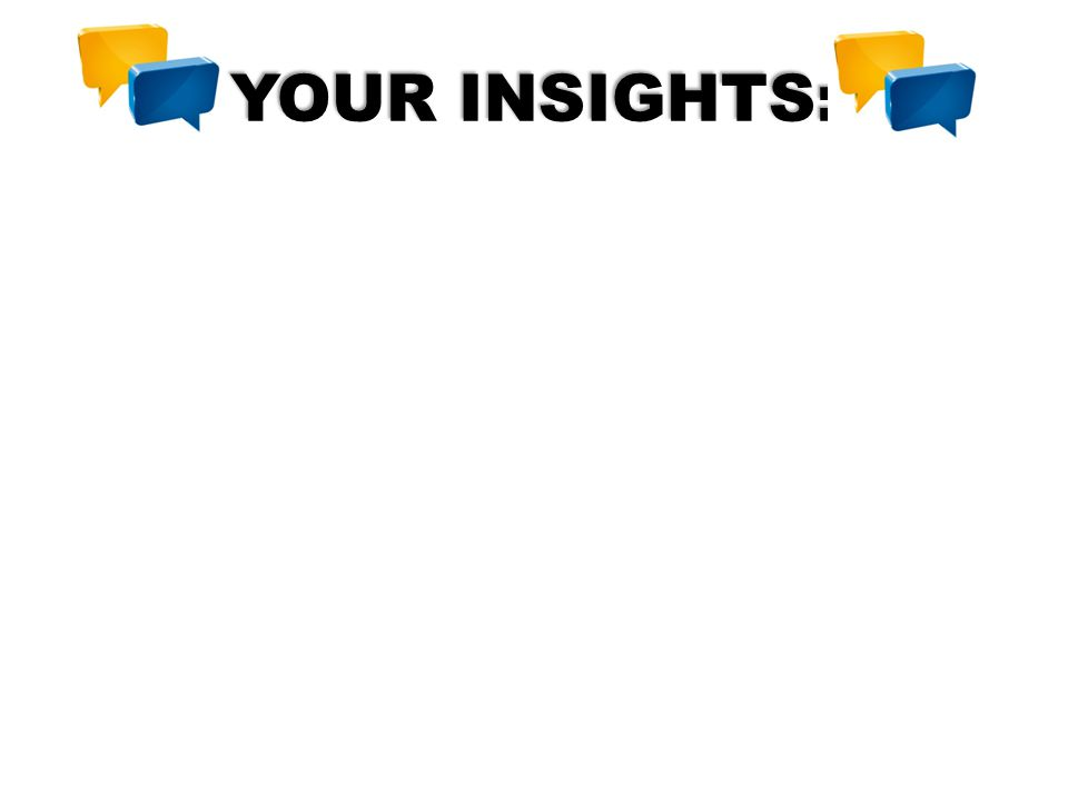YOUR INSIGHTS: