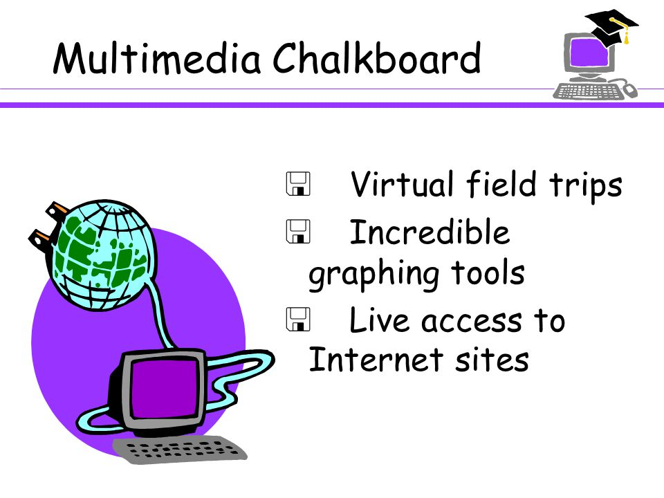 Multimedia Chalkboard  Story Webs  Classroom books  Computer read vocabulary  Venn Diagrams  Demonstration of skills  Color text and highlighting tools for emphasis and color coding