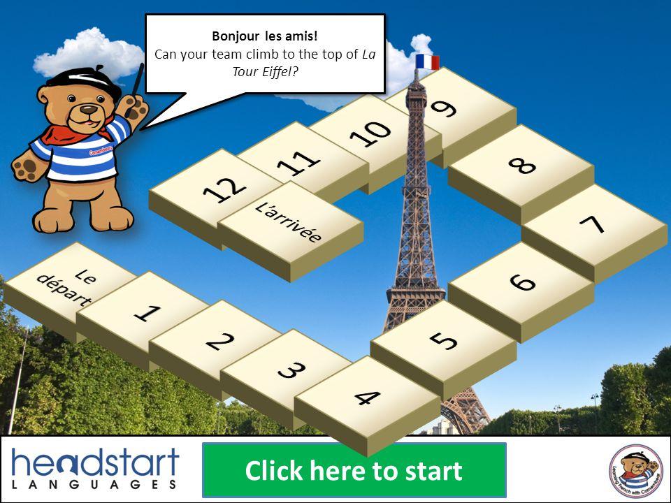 Bonjour les amis.Can your team climb to the top of La Tour Eiffel.