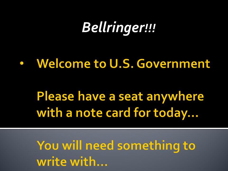 Bellringer !!!