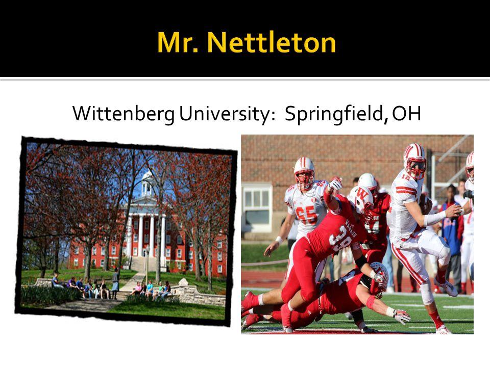 Wittenberg University: Springfield, OH