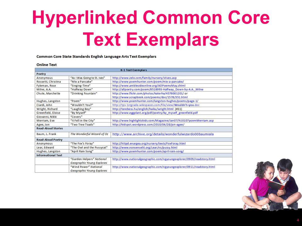 Hyperlinked Common Core Text Exemplars 4