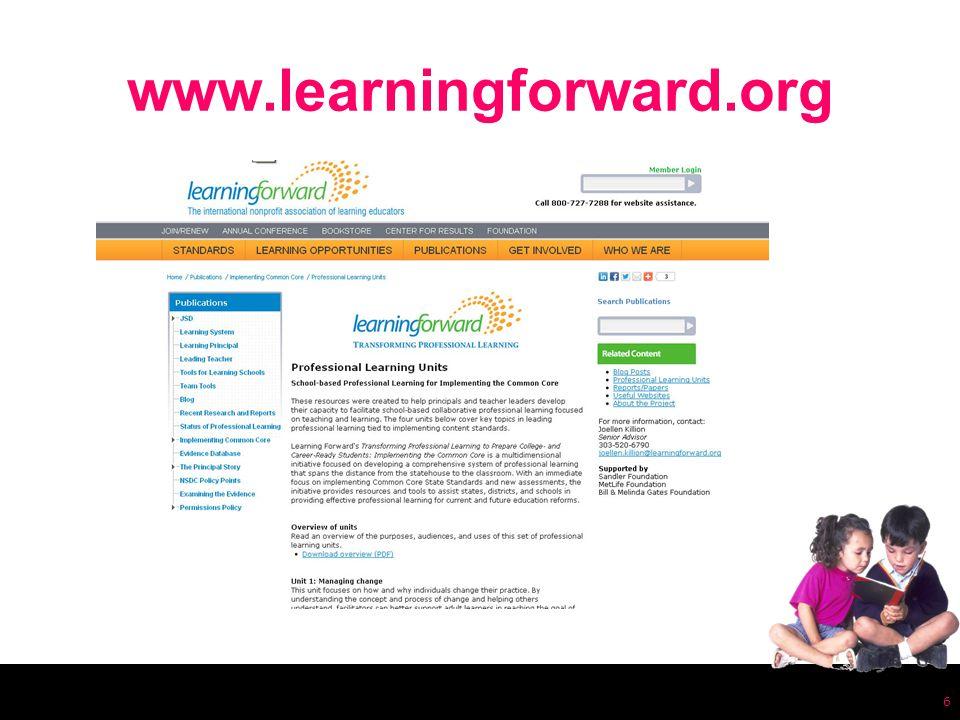 www.learningforward.org 6
