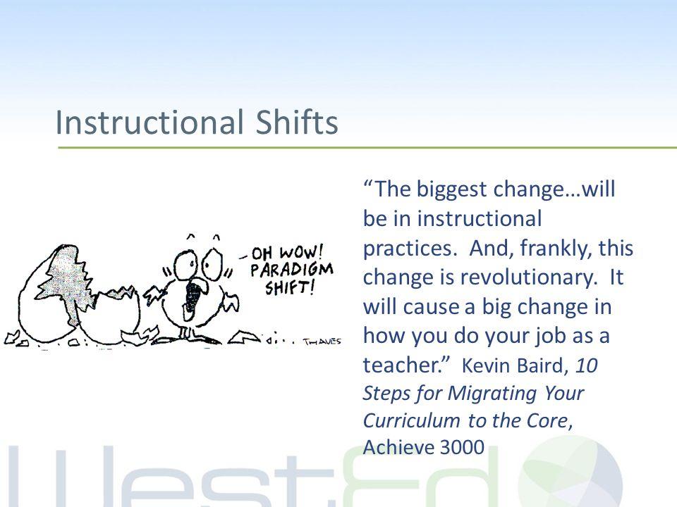AZCCRS Instructional Shifts