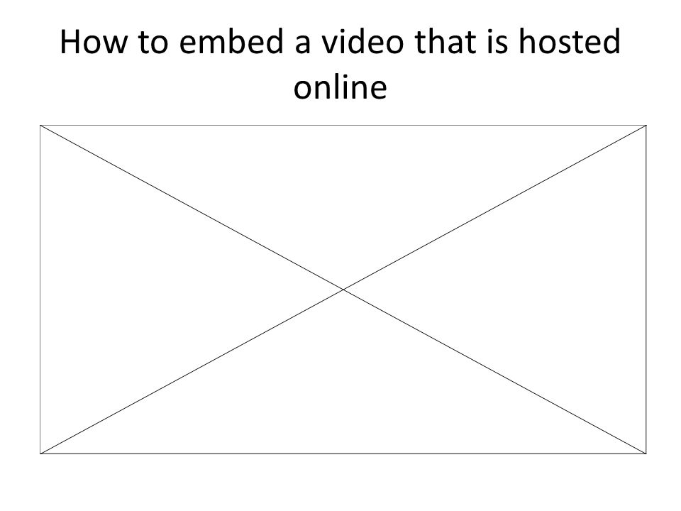 How to embed a video that is hosted online