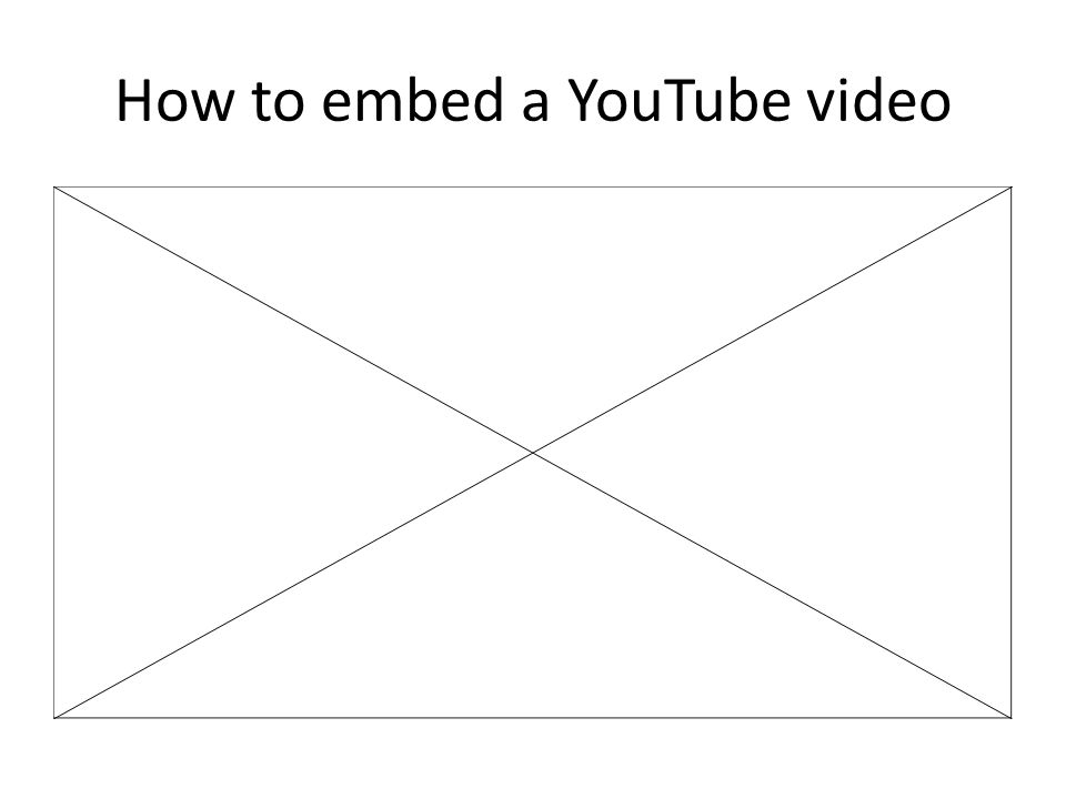 Embedding your own video file PowerPoint 2007 will only accept files with.avi extension.