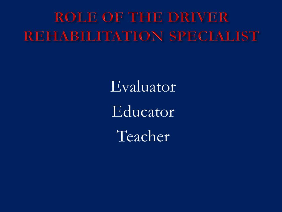 Evaluator Educator Teacher