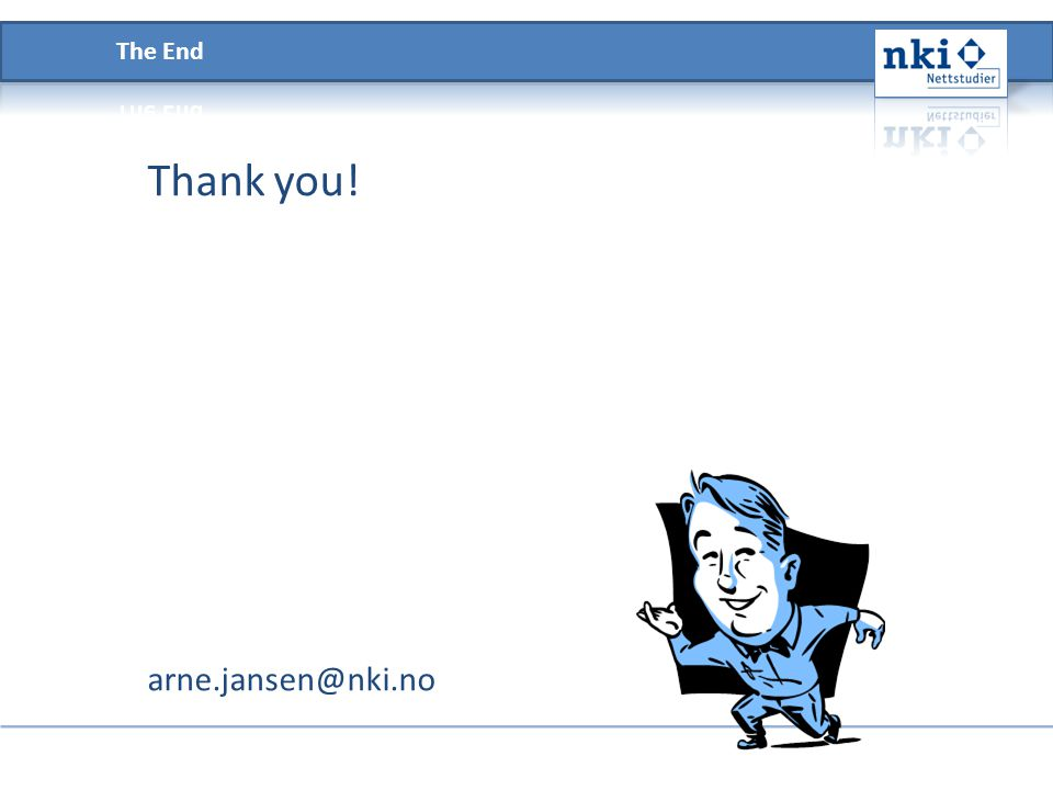 Thank you! arne.jansen@nki.no