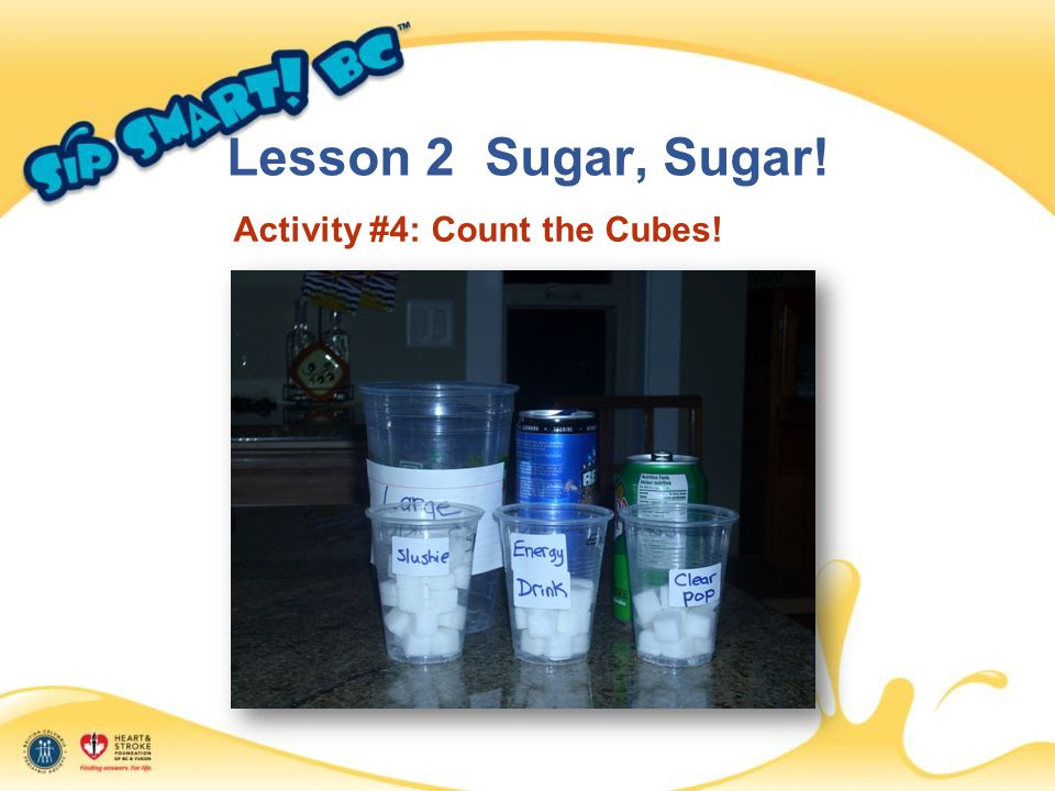 Lesson 2 Sugar, Sugar! Activity #4: Count the Cubes!