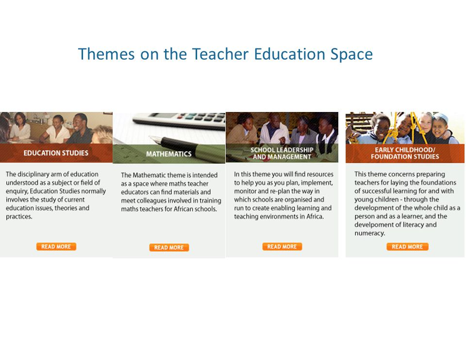 Themes on the Teacher Education Space