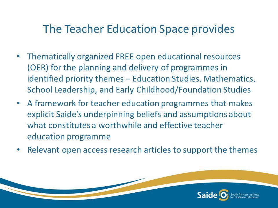 Themes on the Teacher Education Space