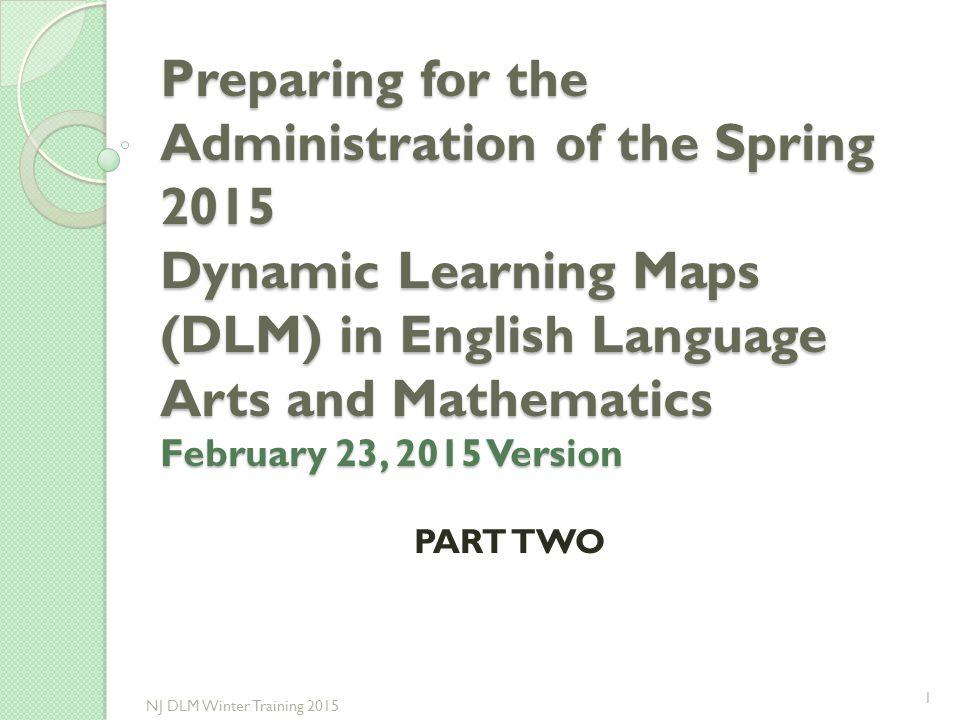 Sample of Technical Liaison Checklist in Manual 11 NJ DLM Winter Training 2015