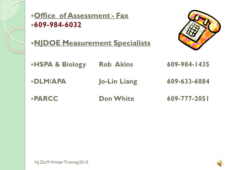 Test Coordinators PARCC 3-5 Orlando Vadel609-341-3456 PARCC 6-8 Timothy Steele Dadzie609-777-2087 PARCC HS & HSPA Veronica Orsi609-292-8739 DLM Techno