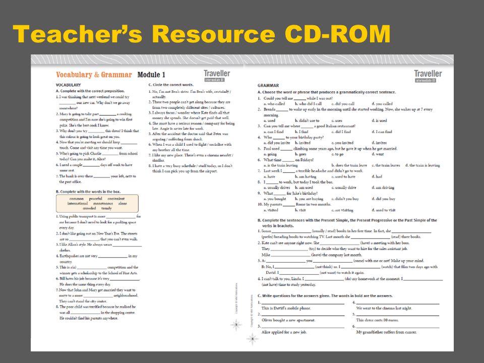 Teacher's Resource CD-ROM