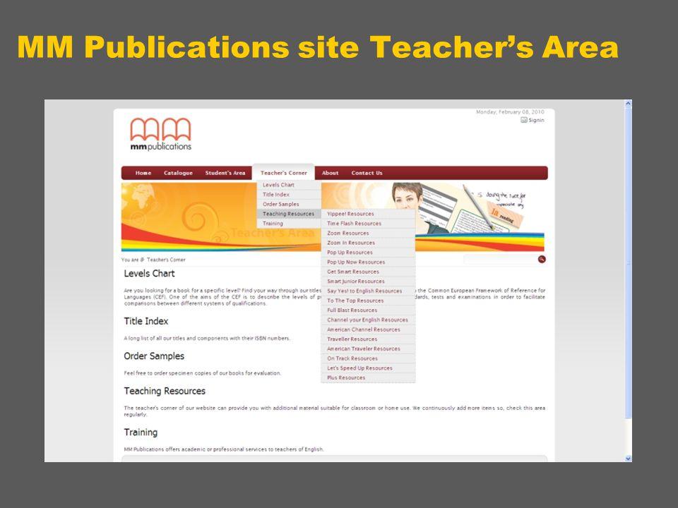 MM Publications site Teacher's Area