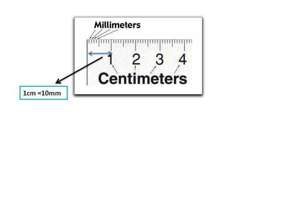 1cm =10mm
