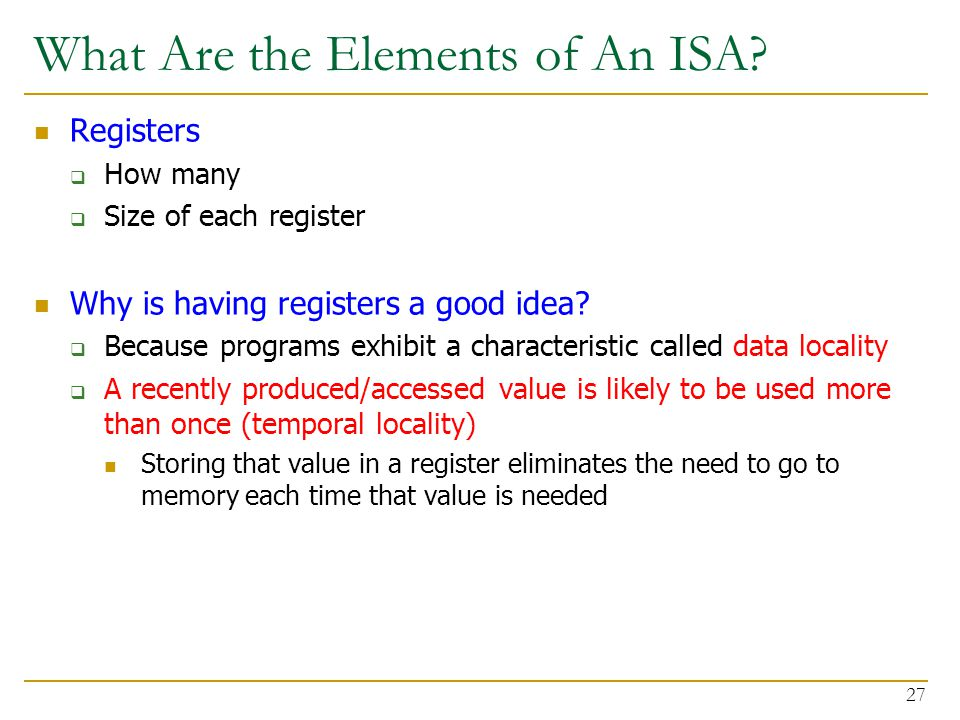 What Are the Elements of An ISA.