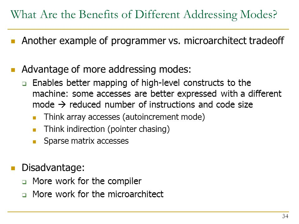 What Are the Benefits of Different Addressing Modes.