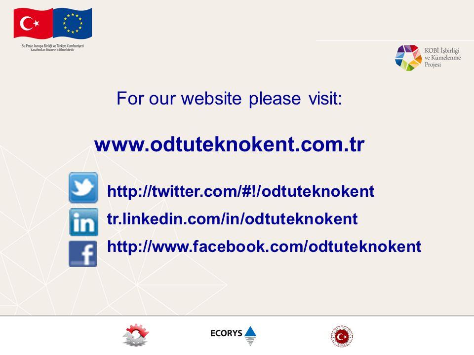 For our website please visit: www.odtuteknokent.com.tr http://twitter.com/#!/odtuteknokent tr.linkedin.com/in/odtuteknokent http://www.facebook.com/odtuteknokent
