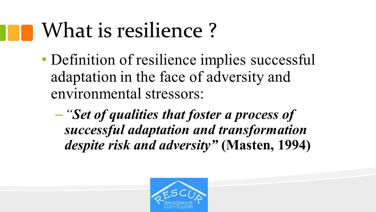 Growth despite adversity