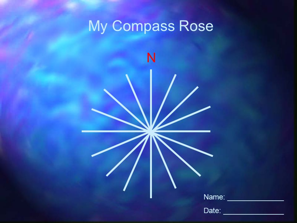 N My Compass Rose Name: ______________ Date: _______________