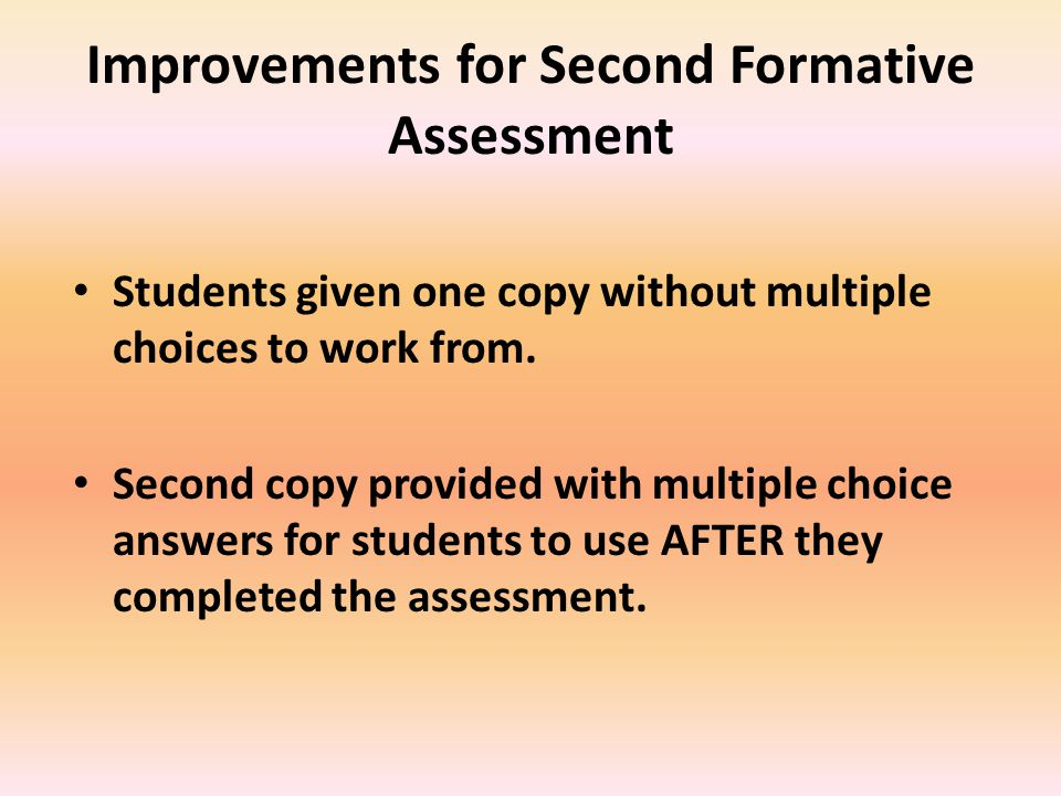 November 2013 Assessments Listed in ascending order by summative assessment results, this graph compares corresponding student results.