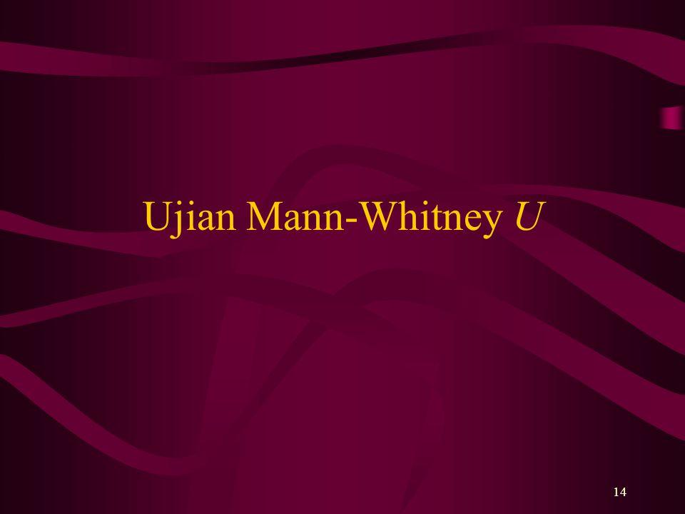 14 Ujian Mann-Whitney U