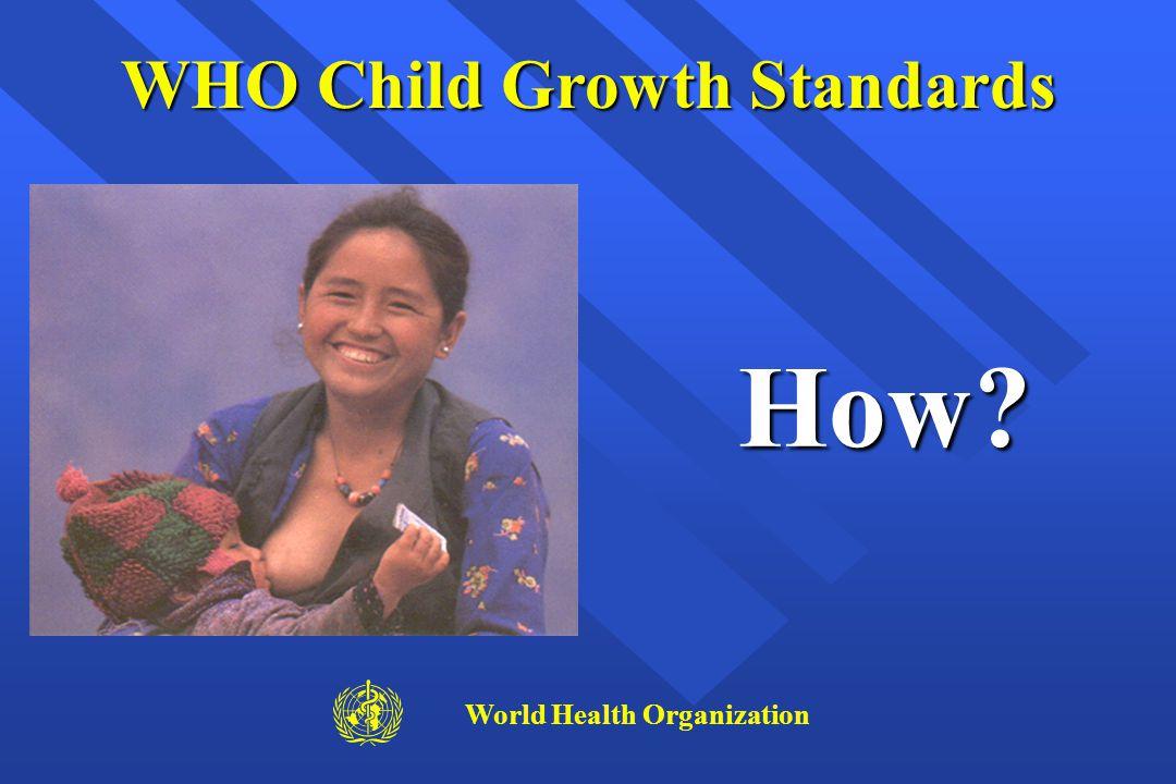 How? WHO Child Growth Standards World Health Organization